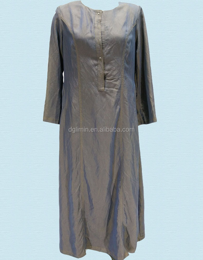 Abaya Model Dubai Denim Abaya Women Wear Direct Factory Abaya Wholesale