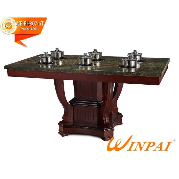 WINPAI artificial built in hot pot table supplier for hotpot city-4