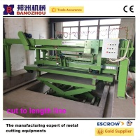 shear metal sheet cut to length machine