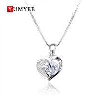 2019 New Style Anti Radiation 925 Sterling Silver Girlfriend Heart Pendant Necklace