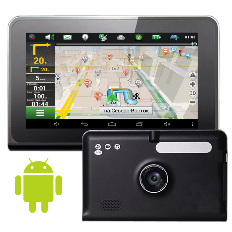 New Android  7 inch Android Car GPS Navigation dvrs Camera Recorder Truck vehicle gps Navigator Tablet PC  Russia Navitel map