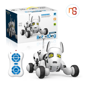 Hot selling funny intelligent dog toy rc robot for kids