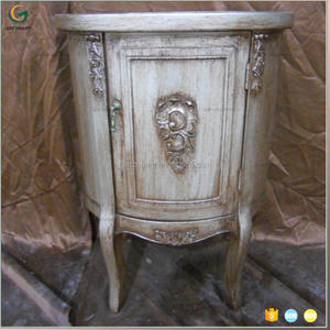 french reproduction furniture wooden decorative half round cabinet