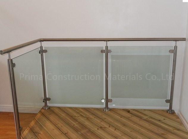 Kundenspezifische Treppe Glas Geländer Mit Platz/rundrohr Terrasse ...