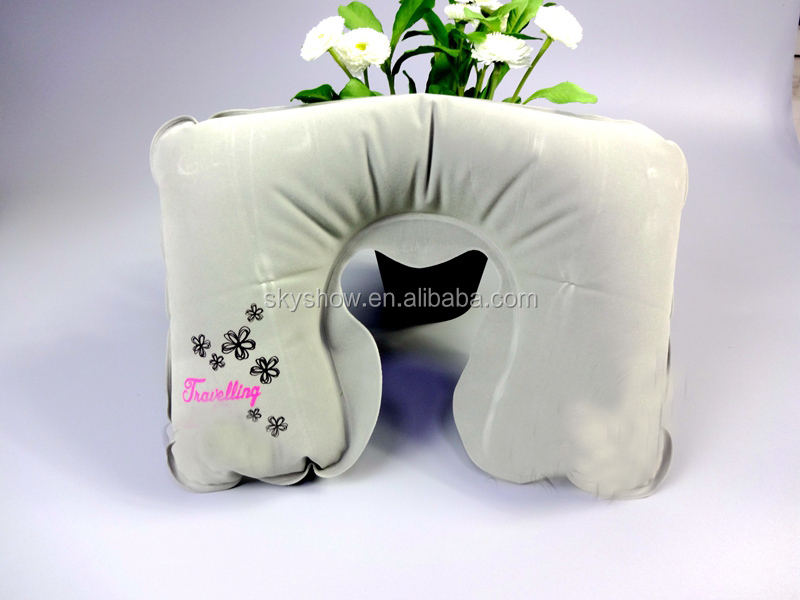 Air Filled Inflatable Travel Neck Pillow with pouch