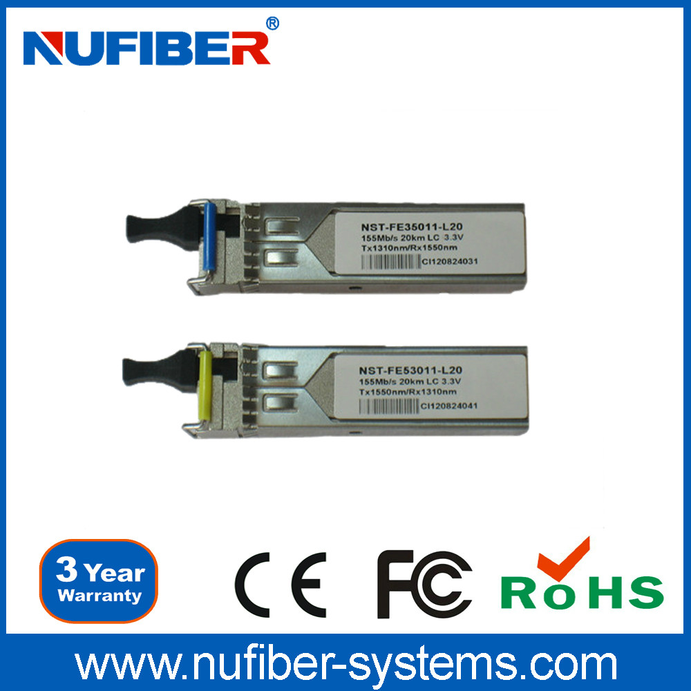 New peoducts 155Mbps 40km LC 1310 DDM SFP Module transceiver