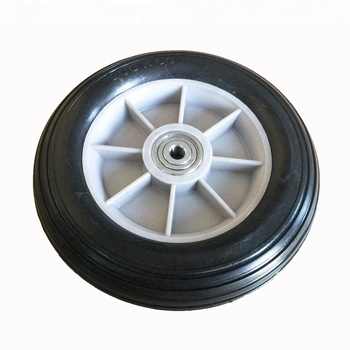 200 mm Diameter Solid PU Rubber Wheel For Kids Toy Cart