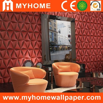 Neue Königlichen Design Roter Farbe Geometrische Muster Club Designer 3D  Textur Dekorative Großhandel PVC Tapeten Für