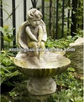 Garden Umbrella Base Resin Bird Bath Fountain