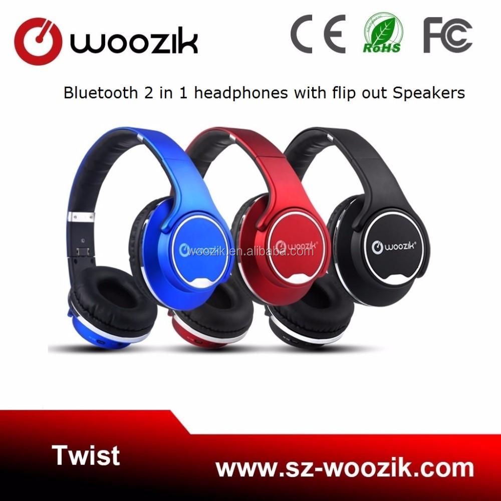 New Arrival 32 Gb Thẻ Tf Khe Cắm Sd Tai Nghe Stereo Không Dây Woozik Xoắn 2  Trong 1 Headphone & Gấp Speaker Với Fm Rad - Buy Tai Nghe