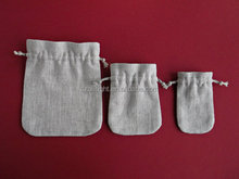 Light linen pouches Natural cloth sachet bags Small drawstring bags