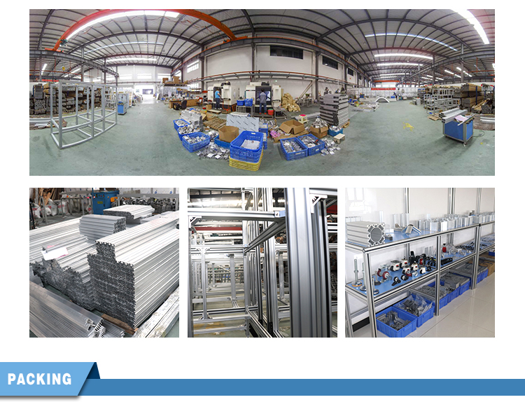 En Aluminium assemblé Usine D'automatisation Travail Étagère En Aluminium Profil Ligne D'assemblage Pour Atelier