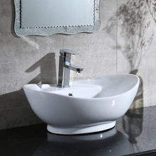 Porcelain basins vessel shape countertop wash basins ceramic ware sink art hand basin cabinet vanity tops sanitary