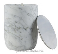 Australia Popular Style - Scented Candles in Marble Look Ceramic Jar with Metal Lid