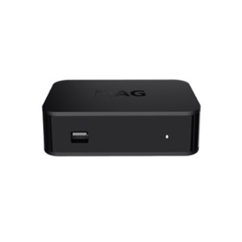 MAG322-w1 Linux3.3 equipped with build in wifi Chipset BCM75839 set top box, Black