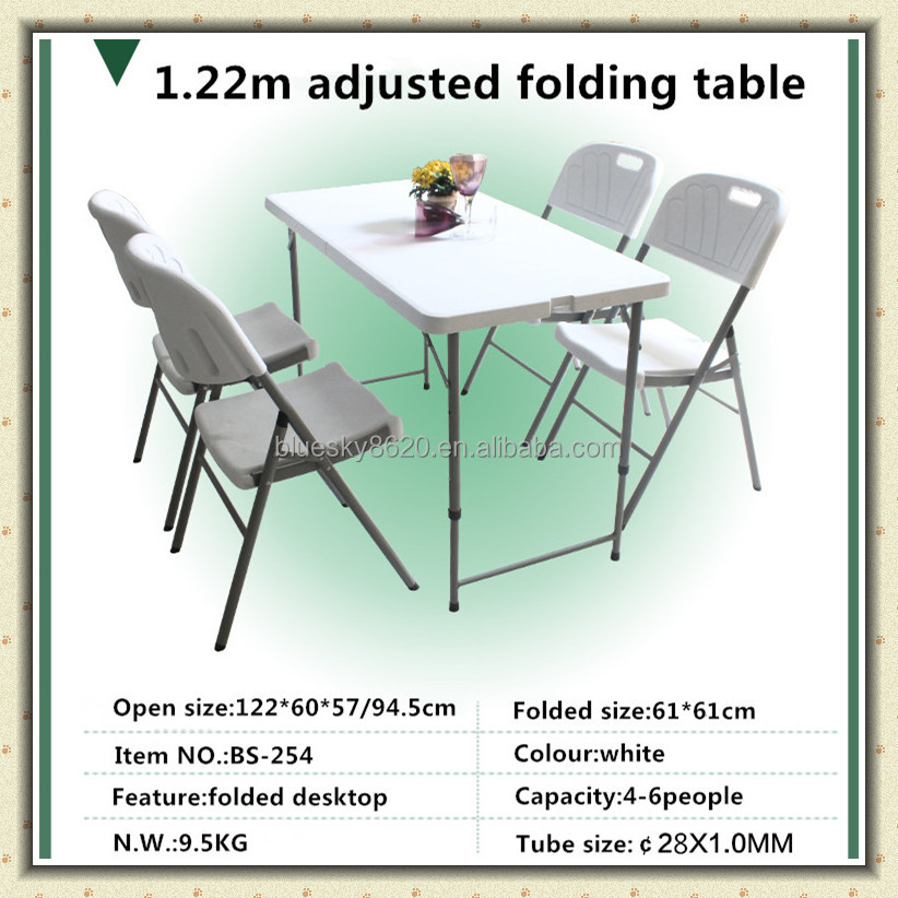 Outdoor plastic portable folding table for Garden/Patio/ /Hunting/Dining room
