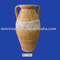 Clay handmade tall flower vases