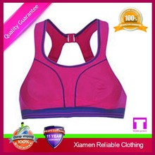 Wholesale breathable bulk bras/Girl's fashion sports bra factory supply