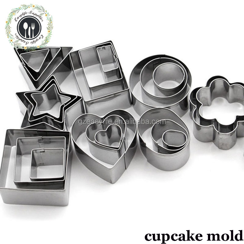 Best-selling stainless steel 24-piece cake mould baking tools