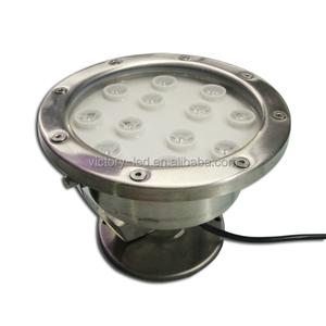36W Red Bule Green White Color Stainless Steel 12v 24v IP68 Underwater Boat Marine LED Light