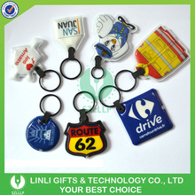 Wholesales Customized Promotional Mini PVC LED Keychain Flashlight Key Tag , LED Keyring Light, Keychain Torch