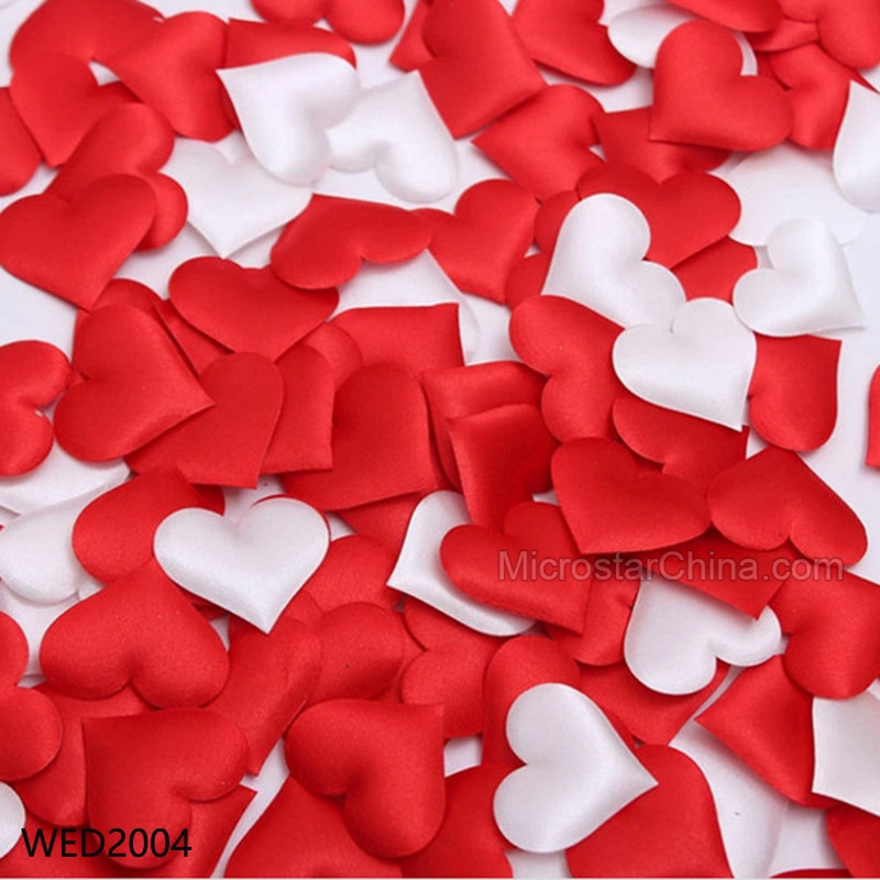 100pcs Fabric Heart 3.5x3.5cm Wedding Party Confetti Table Decoration Birthday Party Baby Shower Decorative Supplies