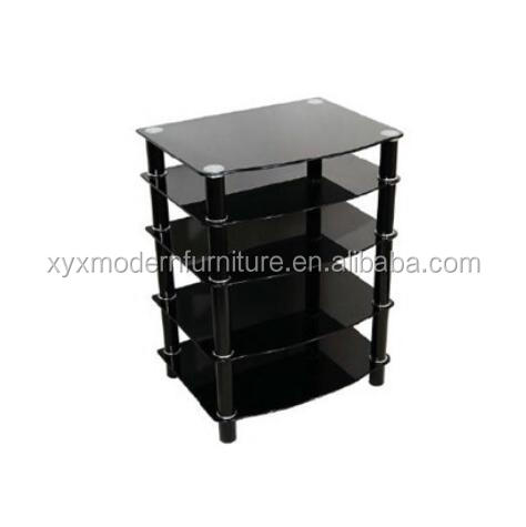 modern design new style cheap 4 tier DVD player glass tv stand xyts-246