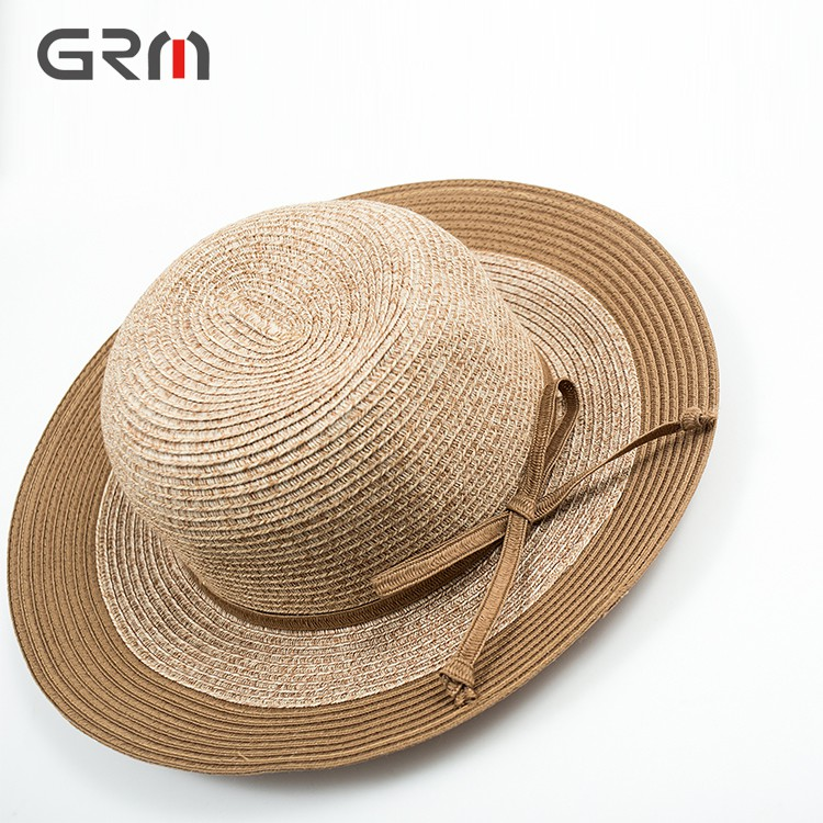 New Style China Manufacture Supply Floppy sun hat with Bowknot WomanPanama Hat Straw Hat Custom