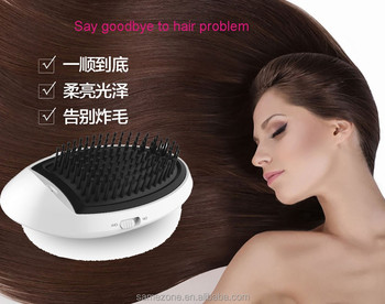 wireless dry battery hair straightener with comb