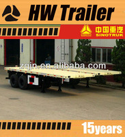 3 / 2 Axles 40ft Flatbed / Low Bed Container Transport Semi Trailer