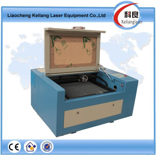 40w laser tube and lifting working mini laser paper cutting machine from china KL-3040