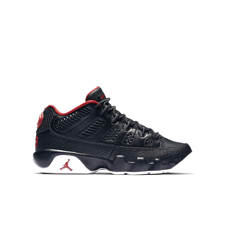 sale retailer 721eb ecfba Get Quotations · Nike Air Jordan 9 Retro Low BG Black White Red 833447-001 (