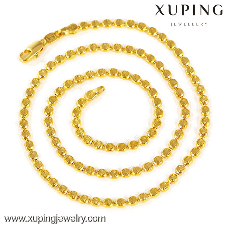 41441-Xuping Jewelry women necklace, 18k gold chain necklace, fashion gold necklaces chain