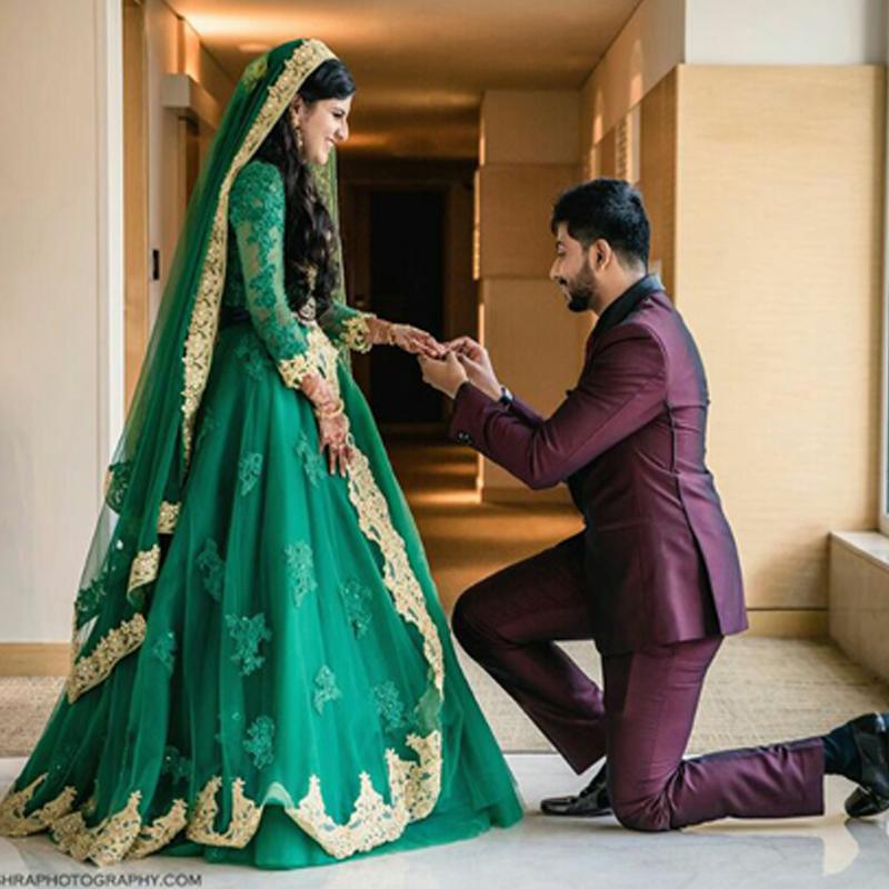 Muslim Green Wedding Dresses, Muslim Green Wedding Dresses Suppliers ...