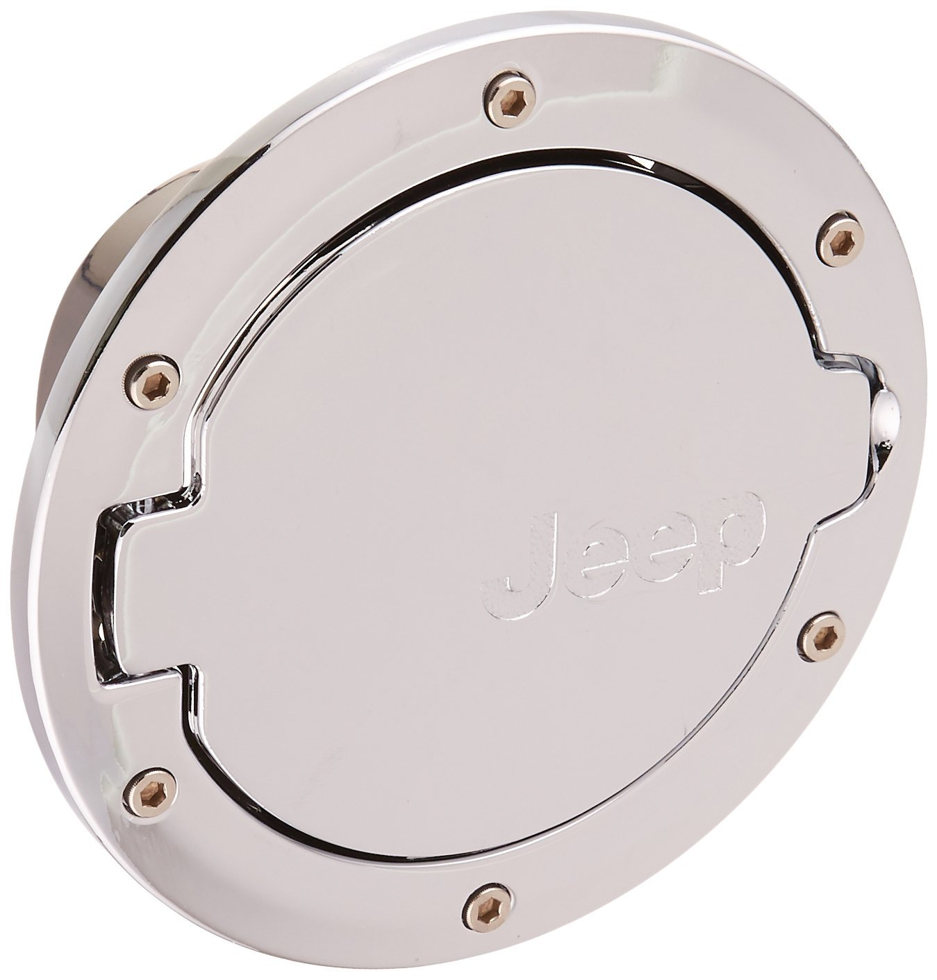 EVINIS Jeep Wrangler Silver Gas Tank Cap Cover Door Fuel Filler Door fit for 2007 - 2016 Jeep Wrangler JK & Unlimited