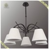 Hot Sale Classic White Fabric Pendant Lamp Shade, Iron Light Fixture Pendant Lamp