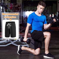 2017 New Fashion Sport Bodybuilding And Fitness Half Sleeve T Shirt For Men Gym Sport Clothes