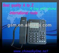 4 line wifi sip ip phone/cordless voip phone sip