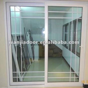 PVC Grilled Design Interior Plastic Sliding Doors (WJ PSD 1525)