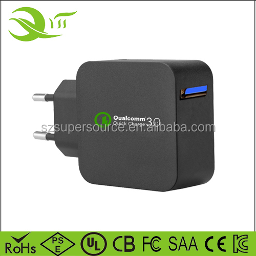 Phone Fast Charger 18w EU Plug quick charge 3.0 micro mini wall power supply portable travel universal adaptor