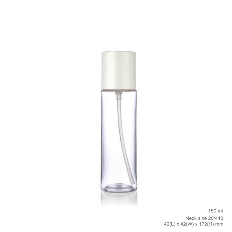 Design Round Cosmetic Lotion 120ml Clear Plastic Bottle