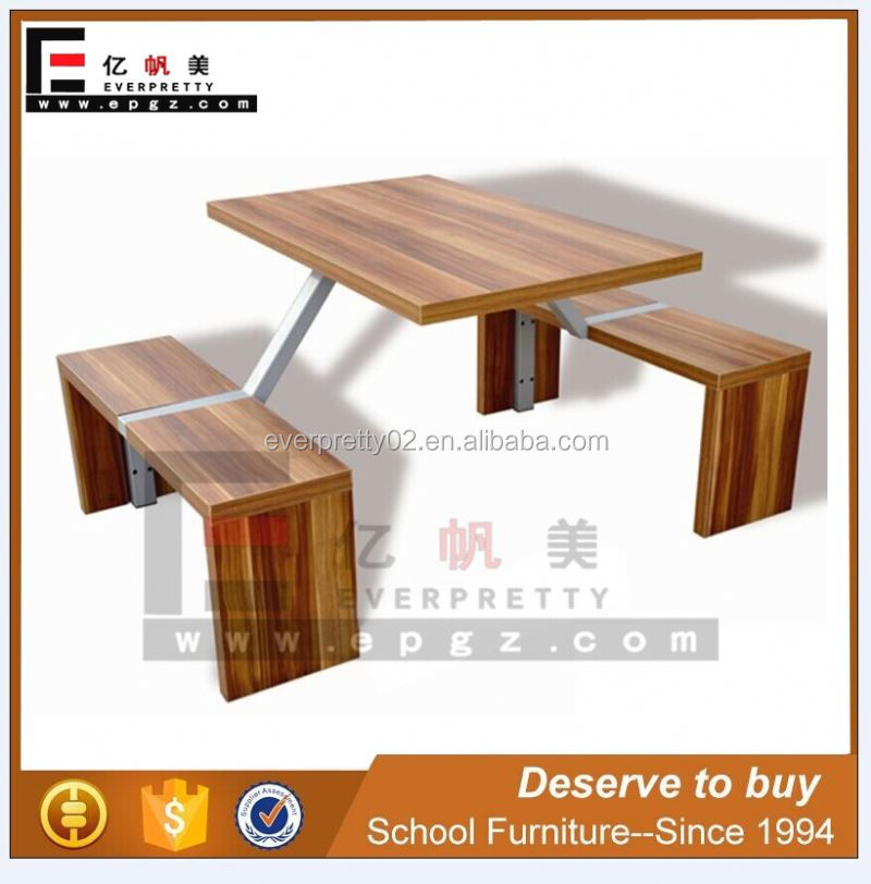 Tremendous 4 Person Wooden Top And Metal Frame Dining Table And Bench For School Canteen Buy 4 Person Dining Table And Bench Dining Table And Bench For School Alphanode Cool Chair Designs And Ideas Alphanodeonline