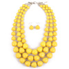 SWTN19 Colorful handmade beaded exaggerated necklace lady multi-layered clavicle chain set