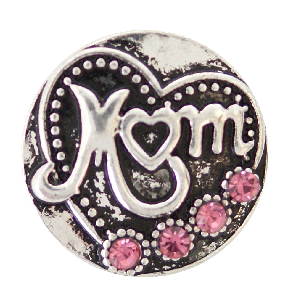 partnerbeads 18-20MM MOM metal snap button jewelry snap charm fit snap jewelry KB6940