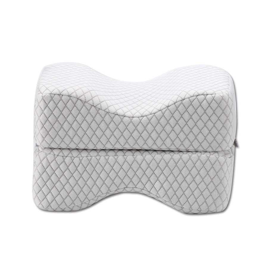Sciatic Nerve Pain Relief Knee Pillow - Best For Pregnancy, Hip, Leg, Knee, Back & Spine Alignment -Wedge Latex Pillow