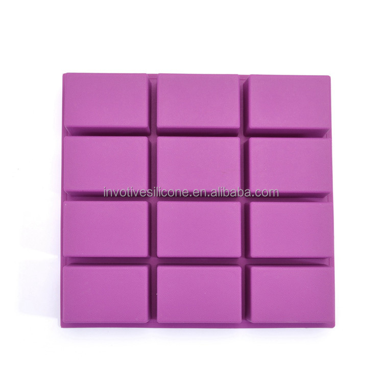 Disposable eco-friendly silicone 12 bar soap molds