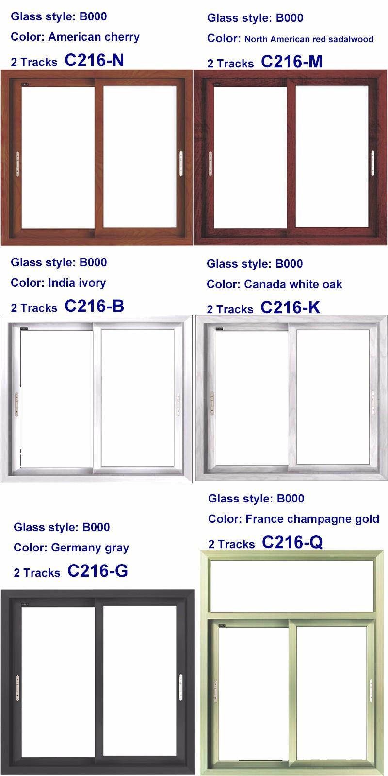 2016 PHONPA Commercial aluminum glass window frame, aluminium doors and  window, windows philippines