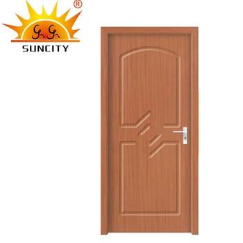 PVC Surface Comfort Room Door Design,cherry Wood Interior Doors SC P146