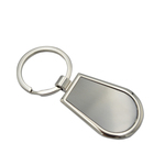 New arrival hot selling custom shapes logo printed blank metal keyrings