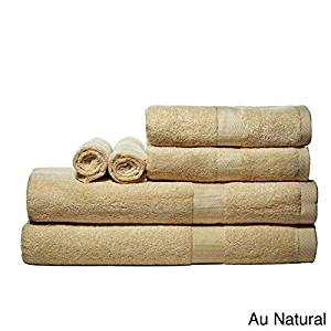 Luxurious Rayon From Bamboo Super-absorbent Solid 6-piece Towel Set (Au Natural)